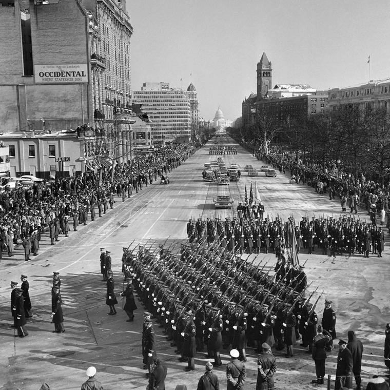 63.11.24. - Washington, USA: Kennedy temetésén - John F. Kennedy, John Fitzgerald Kennedy