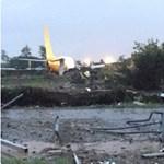 Túlcsúszott a pályán, és egy úton állt meg egy magyar repülő Bergamóban – fotó