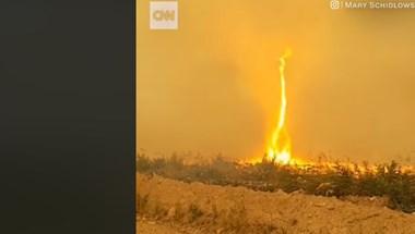 """Újabb """"tűznádóról"""" készült felvétel, ezúttal Brit Kolumbiában – videó"""