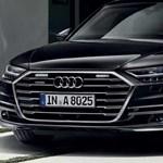 Kék villogós páncélozott új A8-assal rukkolt elő az Audi