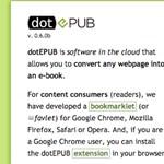 Weboldalból e-book, egy kattintással