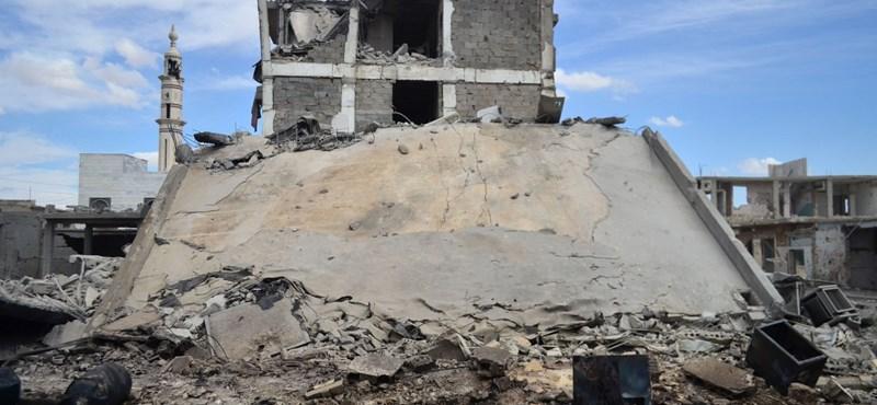 Sosem látott pusztításról számoltak be az orosz légicsapások után szíriai civilek