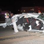 Két halott egy oszlopot döntő Mercedes A45 AMG-ben – fotók