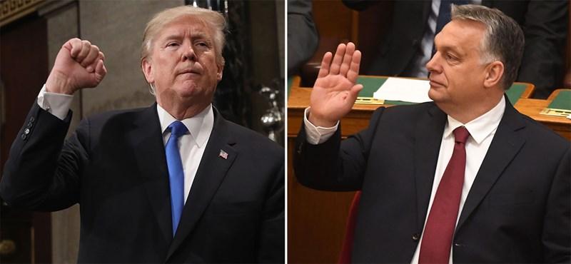Cornstein: Trump azt mondta Orbánnak, hogy olyan, mintha ikrek volnának