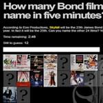 Játék a James Bond filmek szerelmeseinek [videóval]
