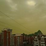 Zöld az ég Moszkva felett - fotók