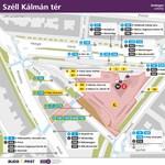 Változás a Széll Kálmán térnél, sétálóutca lesz a Csaba utca egy része – térkép