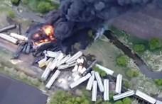 Kigyulladt egy műtrágyát szállító tehervonat Iowában, evakuálni kellett a lakosságot