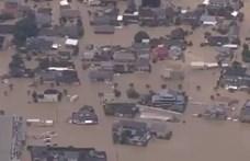 Akkora eső van Japánban, hogy 1,2 millió embert evakuálnak
