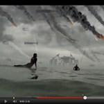 Apokalipszis most, szörfdeszkával (videó)