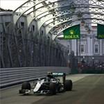 Forma-1: Rosbergé a pole pozíció Szingapúrban