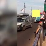 Videó: Újabb balhé volt a combinós gyilkosság megállójában
