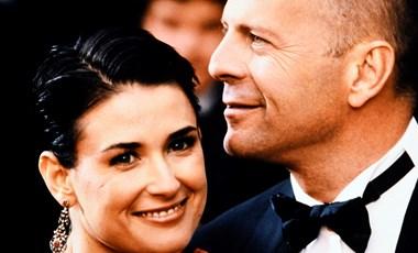 Így kell ezt csinálni: Demi Moore és Bruce Willis pizsamapartit tart a karanténban