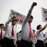 Fotók: Tömegek gyűlölködtek Amerika ellen Észak-Koreában