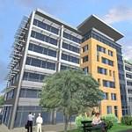 Zöld irodák a Kábelgyár terültén - készül a második ütem