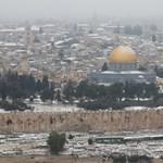 Hó fedte be Jeruzsálemet – fotók