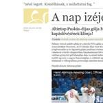Az év Puskás-díjas gólja egy magyar focista kapáslövésének a klónja