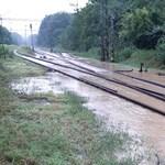 Három helyen nem járnak a vonatok a vihar után