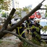 Hevesben több száz riasztás a vihar miatt