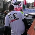Tüntetők lassították a forgalmat a belvárosban - videó