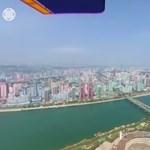 Ritka videó: ezt látni egy repülőből Észak-Korea fővárosa felett