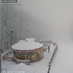 Márciusi hóvihar támadt a Kékestetőn - videó