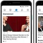 Itt a Facebook nagy bejelentése: külön fület kapnak a hírek