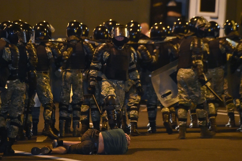 afp.20.08.09. Fehéroroszország ellenzéki tüntetés a választások után