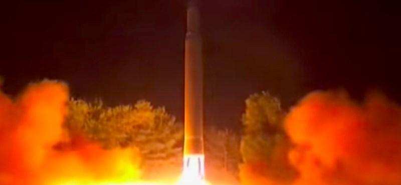 Videót tett közzé Észak-Korea: 133 másodperc az eddigi legpusztítóbb rakétájuk kilövéséről