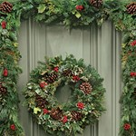 Karácsonyi ajtódísz - 3 ötlet, amit Ön is elkészíthet