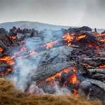 Lélegzetelállító drónfelvétel készült az izlandi vulkánkitörésről