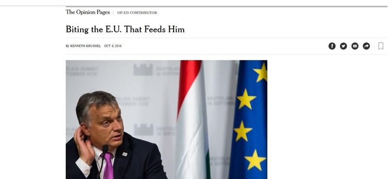 Orbánról leszedik a keresztvizet a New York Timesban