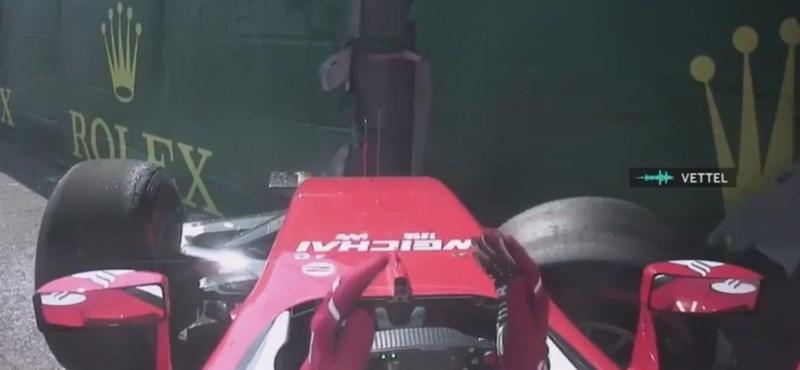 Így káromkodik Vettel, amikor nagyon ideges – videó