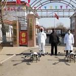 Már a drónokat is bevetették a koronavírus ellen Kínában