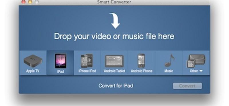 A hét Maces alkalmazása: Smart Converter - videók kovertálása egy mozdulattal