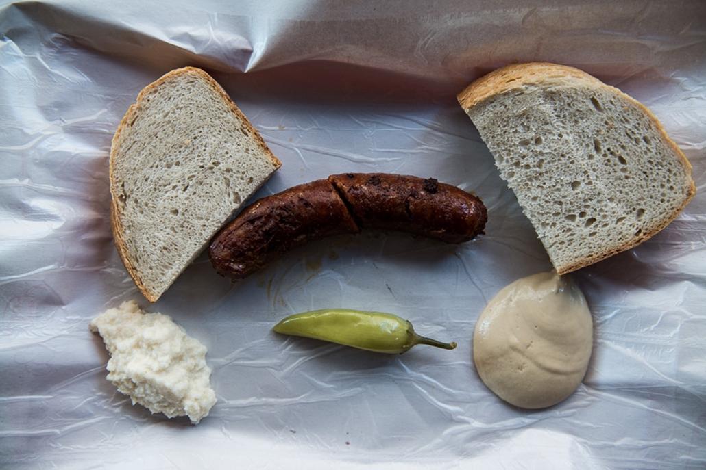 Belvárosi hentesek, hurka, kolbász, húsfogyasztás, Nagyítás, Budafoki út