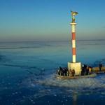 Van, ahol már 20 centis a Balaton jege