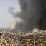 Ismét lángol a bejrúti robbanás helyszíne