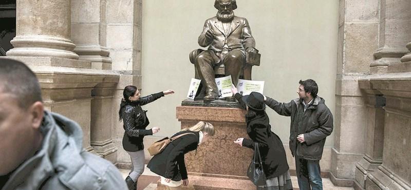Megvan a Közgázról eltávolított Marx-szobor új helye