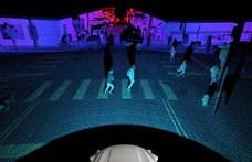 Így lát kamerák nélkül is egy csúcstechnológiás önvezető rendszer – videó