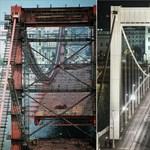 Ilyen volt, ilyen lett az 50 éves Erzsébet híd – fotó