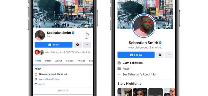 Megváltoznak a Facebook-oldalak, már tesztelik az új kinézetet