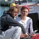 Élménybeszámolót tart az Atlanti-óceánt áthajózó páros