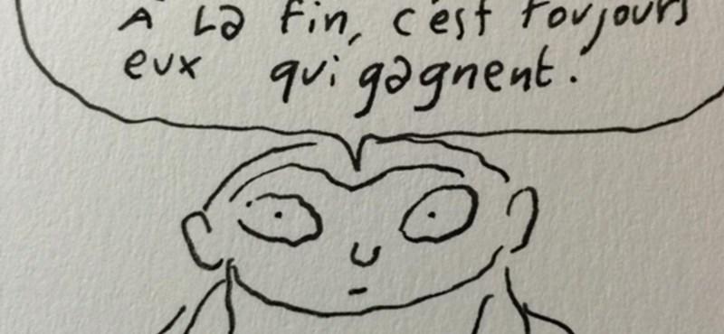 """""""Ha Isten létezik, akkor gyűlöl titeket"""" - rajzokkal üzent a Charlie Hebdo munkatársa"""