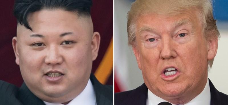 Trump azzal hencegett, hogy az ő nyomógombja sokkal nagyobb, mint Kim Dzsong Uné