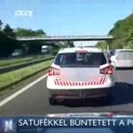 Elveszik a szolgálati autót az M7-esen pöffeszkedő polgárőrtől
