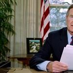 Szobrot kap idősebb George Bush Budapesten