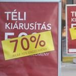 20-70 százalékos leárazás a boltokban