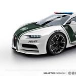 A Bugatti Chironnak is lenne helye a híres dubaji rendőrautó-flottában