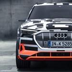 400 lóerős az Audi első villanyautója, de csak 8 másodpercig